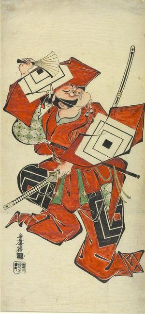 鳥居清倍: Actor Ichikawa Danjûrô 2nd Dancing in the Aragoto Style, Mid Edo period, datable to 1720 - ハーバード大学