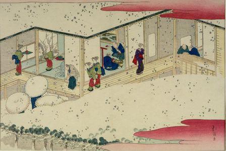 Totoya Hokkei: TEAHOUSE IN THE SNOW - Harvard Art Museum