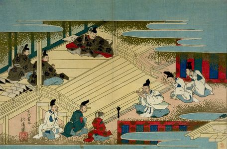 Totoya Hokkei: The Emperor Listening to Musicians - Harvard Art Museum