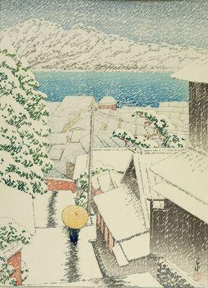 Kawase Hasui: Hill of Senko-ji (Onomichi Senko-ji no saka), Taishô period, dated 1922 - Harvard Art Museum