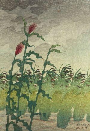 伊東深水: Kibi, Approaching Storm, Taishô period, dated 1920 - ハーバード大学