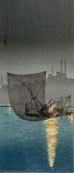 Takahashi Hiroaki: Fishing Nets at Tsukuda - Harvard Art Museum