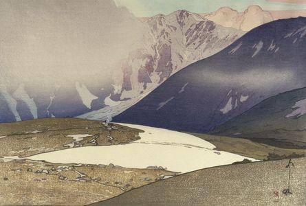 吉田博: Tateyama, Bitsu Mountains (Tateyama Bessan), from the series Twelve Themes from the Japan Alps (Nihon Arupusu jûnidai), Shôwa period, dated 1926 - ハーバード大学