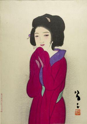Takehisa Yumeji: Woman in Red (Kôi no onna) - Harvard Art Museum