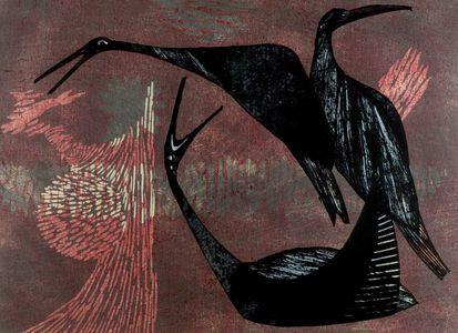 Shima Tamami: Birds, Shôwa period, dated 1959 - ハーバード大学