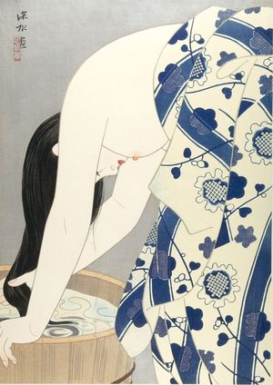 Ito Shinsui: Hair (Kami), Shôwa period, dated 1953 - Harvard Art Museum