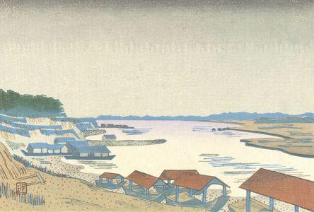 Hiratsuka Un'ichi: Rain on the Tama River, Shôwa period, - ハーバード大学