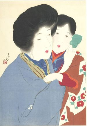 鏑木清方: Mother and Child, Meiji period, circa 1900 - ハーバード大学