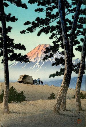 川瀬巴水: Mount Fuji from the Back (Tago no ura), Shôwa period, dated 1940 - ハーバード大学