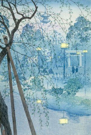 笠松紫浪: Shinobazu Lake in Tokyo, Shôwa period, dated 1932 - ハーバード大学