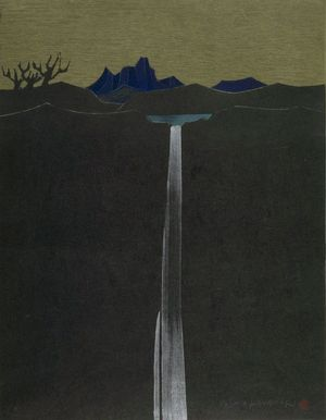 Kanamori Yoshio: Lake and Mountain, Shôwa period, - ハーバード大学