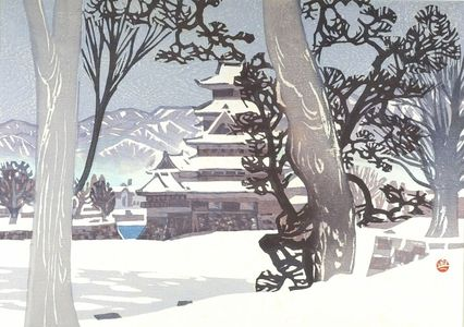 Okiie: Matsumoto Castle in the Snow (Yuki no Matsumoto-jo), Shôwa period, - Harvard Art Museum