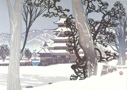 Okiie: Matsumoto Castle in the Snow (Yuki no Matsumoto-jo), Shôwa period, - Harvard Art Museum