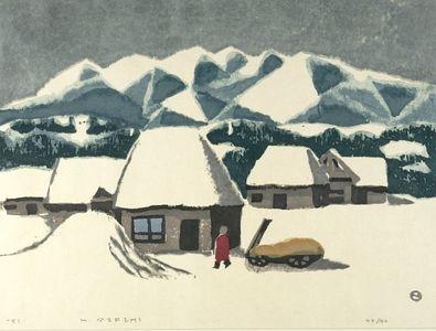 Azechi Umetaro: Farmhouse, Shôwa period, dated 1951 - ハーバード大学