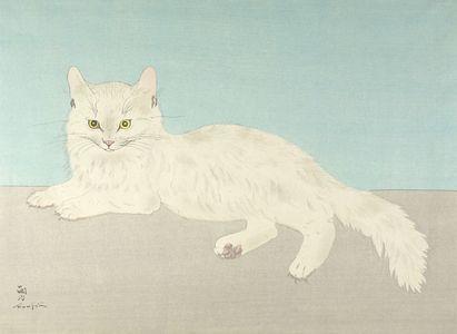 Tsugouharu Foujita: White Cat, Shôwa period, - ハーバード大学