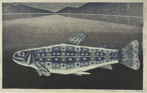 Katô Yasu: Fish of Akan, Shôwa period, dated 1961 - ハーバード大学