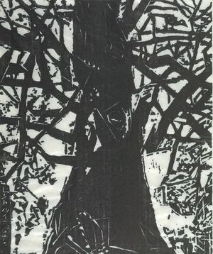 Munakata Shiko: Oak Tree in St. Louis, Shôwa period, - Harvard Art Museum