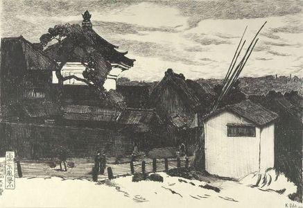 Oda Kazuma: Dainichidô Shrine of Kobinata, Tokyo, Taishô period, dated 1916 - Harvard Art Museum