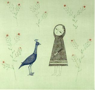 Minami Keiko: Small Girl with Bird - ハーバード大学