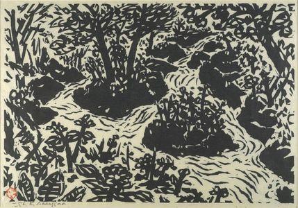 Sasajima Kihei: Mountain Stream, Shôwa period, dated 1956 - Harvard Art Museum