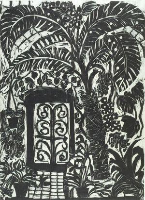 松原直子: Conservatory IV, Shôwa period, dated 1965 - ハーバード大学