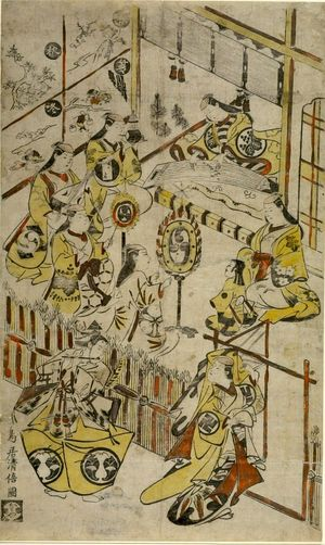 鳥居清倍: Kabuki Actors' Party, Edo period, circa 1715 - ハーバード大学