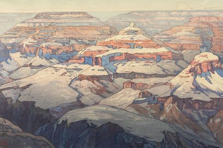 吉田博: Grand Canyon, Shôwa period, dated 1925 - ハーバード大学