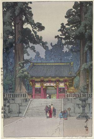 Yoshida Hiroshi: Tôshôgu Shrine, Nikkô, Shôwa period, dated 1937 - Harvard Art Museum