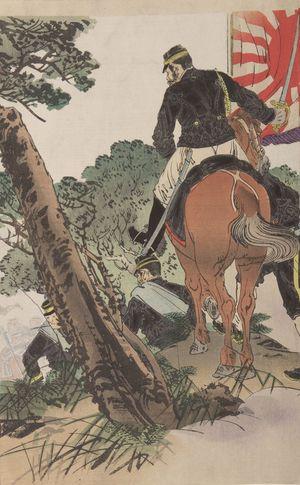 Ogata Gekko: First Division Approaching Fengtian (Daiichigun Hôten-fu shingeki no zu), Meiji period, dated 1894 - Harvard Art Museum