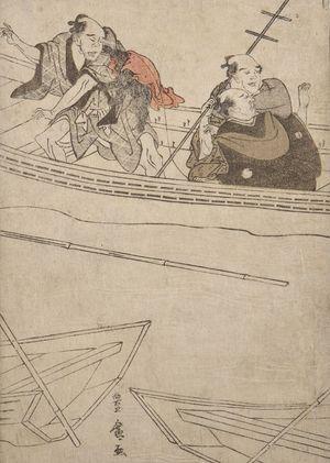 Utagawa Toyohiro: Boaters Watching a Fight - Harvard Art Museum