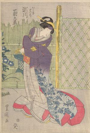 Utagawa Toyokuni I: Actor Segawa Kikunojô (One of Three Kabuki Actors), Late Edo period, circa 1820-1825 - Harvard Art Museum