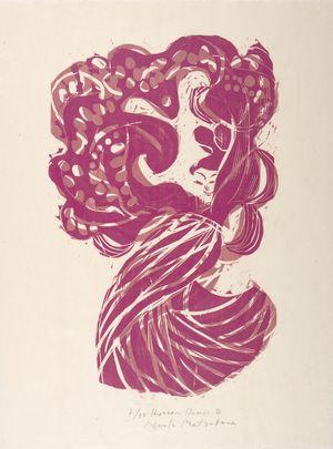 松原直子: Page from Hagoromo (Feathered Robe), Shôwa period, circa 1984-1986 - ハーバード大学