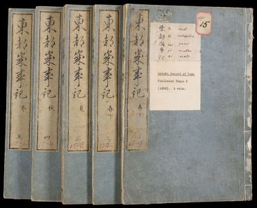 Unknown: Annual Record of Eastern Capital (Toto saijiki) - Harvard Art Museum