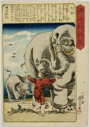 歌川国芳: Shun the Great (Dai Shun), from the series The Twenty-four Paragons of Filial Piety in China (Morokoshi nijûshi kô), Edo period, circa 1848 (Kôka 5 / Kaei 1) - ハーバード大学