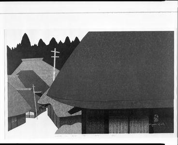 朝井清: House in Aizu, Shôwa period, dated 1973 - ハーバード大学