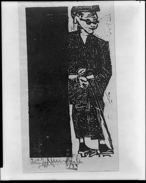 Munakata Shiko: Self Portrait - Harvard Art Museum