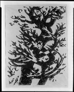 Sasajima Kihei: Two Trees in the Wind No. 3, Shôwa period, dated 1962 - Harvard Art Museum