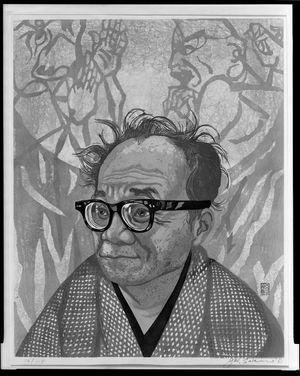 Sekino Jun'ichiro: Portrait of Munakata Shikô (1905-1975), Shôwa period, dated 1968 - Harvard Art Museum