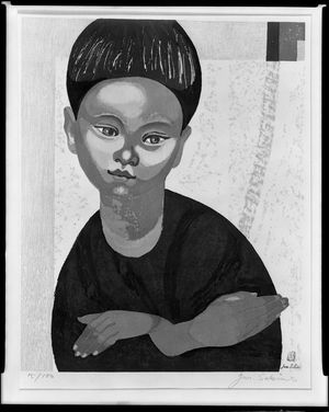関野準一郎: Portrait of a Boy, Shôwa period, circa 1961(?) - ハーバード大学