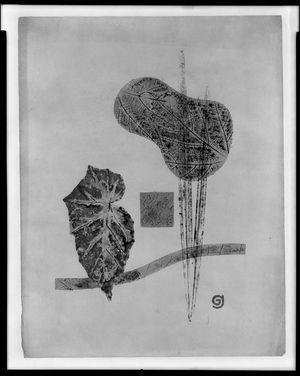 Yamaguchi Gen: Composition with Leaves, Shôwa period, dated 1940 - Harvard Art Museum