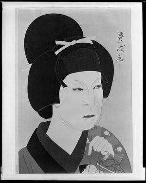 Yamamura Toyonari: Onnagata Looking to Lower Right, Taishô period, circa 1920-1922 - Harvard Art Museum
