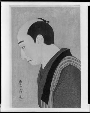 Yamamura Toyonari: Kabuki Actor Looking Down, Taishô period, circa 1920-1922 - ハーバード大学