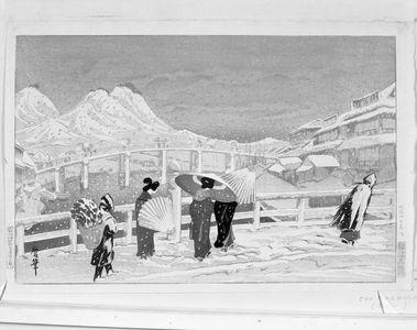Oda Kazuma: Great Bridge at Matsue (Matsue ôhashi), Taishô period, dated 1924 - Harvard Art Museum