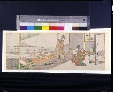 葛飾北斎: Scene in May: The Boys' Festival (Gogatsu no kei), Edo period, first half 19th century - ハーバード大学