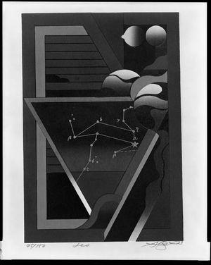 Kurosaki Akira: Leo, from the Zodiac Series, Shôwa period, circa 1973 - Harvard Art Museum