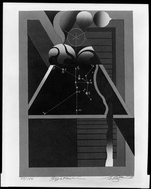 黒崎彰: Sagittarius, from the Zodiac Series, Shôwa period, circa 1973 - ハーバード大学