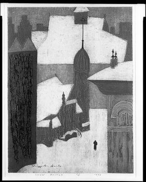 朝井清: Snow, Boston, Shôwa period, dated 1963 - ハーバード大学