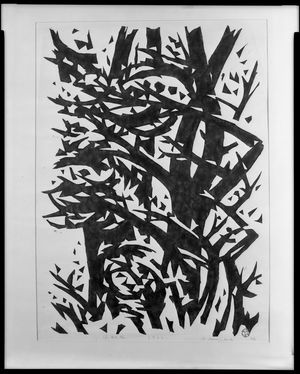 Sasajima Kihei: Windy Grove, Shôwa period, dated 1959 - Harvard Art Museum