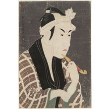 東洲斎写楽: Actor Matsumoto Kôshirô 4th as Gorôbei, the Fishmonger from San'ya from the Play