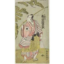 鳥居清満: Actor Ichikawa Komazô AS HAMANARI, Edo period, - ハーバード大学